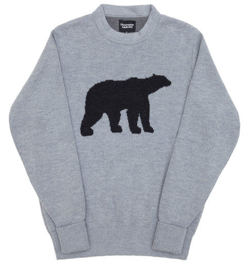 Grey Polar Bear Knit