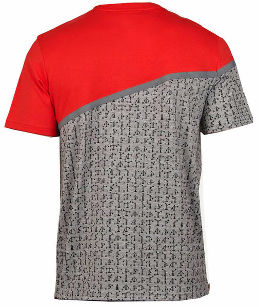 Red Signal Print Pocket T-Shirt