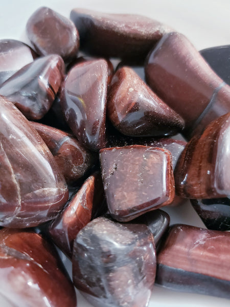 Red Tigers Eye, Tumbled