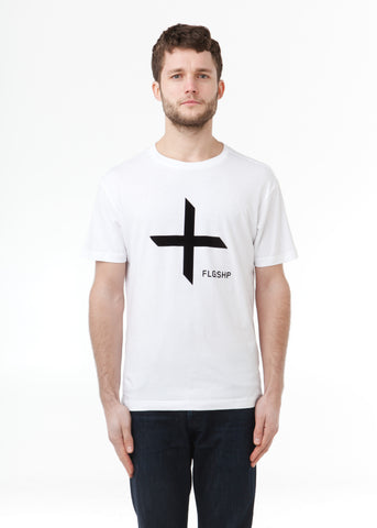 Ship Tee Flocking White