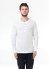 PIMA Cotton Handsome Henley White