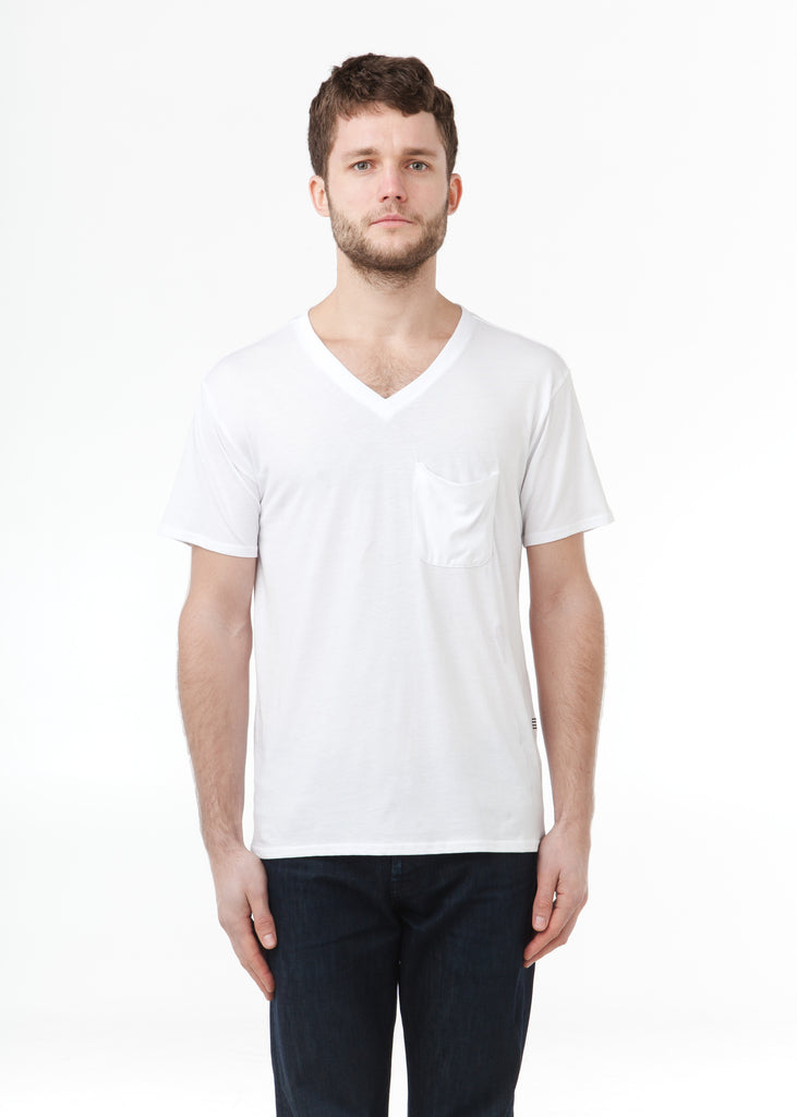 PIMA Cotton Hidden Tee White