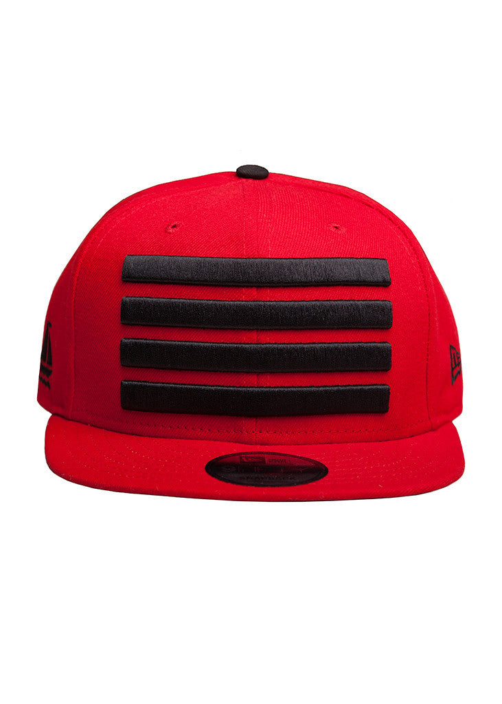 New Era Leader Snapback Red / Black