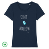 TSHIRT BIO - Chat mallow <br> 5 couleurs
