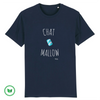 TSHIRT BIO  - Chat mallow <br> 4 couleurs
