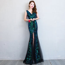 Load image into Gallery viewer, Bride Cheongsam Oriental Women Wedding Qipao Fashion Chinese Style Elegant Long Dress Luxury Robe Party Dresses Vestido S-XXL - Oskalisti