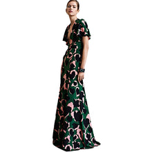 Load image into Gallery viewer, Sexy Dress New High Quality Runway 2018 Spring Summer Women'S Party Office Elegant Elegant Boho Beach Printing Maxi Long Dresses - Oskalisti