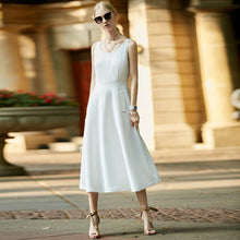 Load image into Gallery viewer, Amii Women Minimalist 2018 Summer Dress Office Lady A Line Sleeveless Female Dresses - Oskalisti