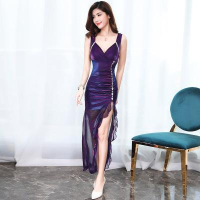 2019 New Summer Women Sexy Dress Sling Dress Ruffles Nightclub Dress Celebrity Evening Party Dress Vestidos De Fiesta De Noche - Oskalisti