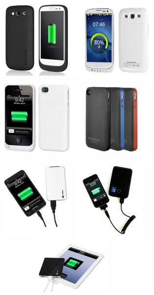 External battery for smartphone