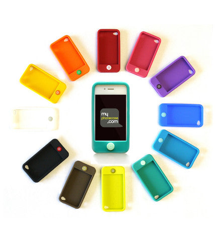 colorful silicon case iphone 4