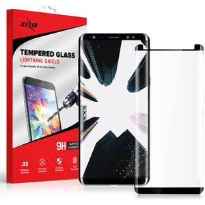 Zizo Curved Tempered Glass Galaxy S9+ Plus Screen Protector - Black - MyPhoneCase.com