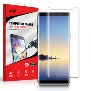 Zizo Curved Tempered Glass Galaxy S9 Screen Protector - Clear - MyPhoneCase.com