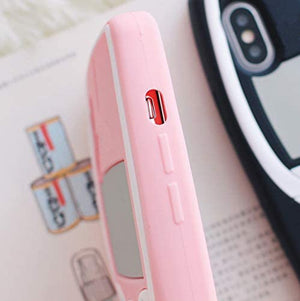 RETRO 3D iPhone XR Case - Soft Pink Classic Wireless Phone