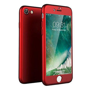 "XTrio Full Cover Tempered Glass iPhone 8 / 7 (4.7"") Case - Red - MyPhoneCase.com"