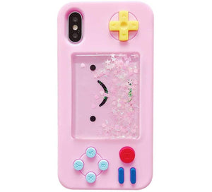 "RETRO 3D iPhone XR (6.1"") Case Kawaii Pink Quicksand Handheld Game"