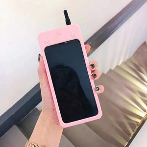 RETRO 3D iPhone XS MAX Case - Soft Pink Wireless Telephone
