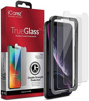 "iCarez iPhone XR / iPhone 11 (6.1"") Tempered Glass Screen Protector [2 Pack]"