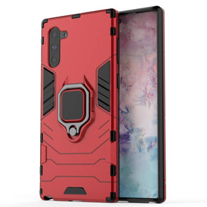 Slim Ring Stand Armor Galaxy Note 10 Case - Red - MyPhoneCase.com