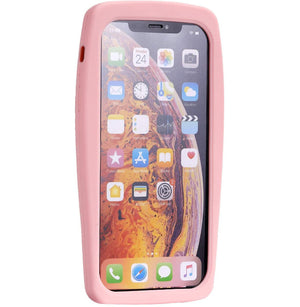 RETRO 3D iPhone X / XS Case - Soft Pink Classic Wireless Phone - MyPhoneCase.com