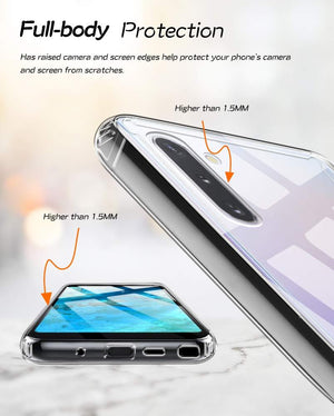 Slim-Fit Liquid Cover Galaxy Note 10 Case - Crystal Clear - MyPhoneCase.com