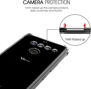 MPC Crystal Shockproof Bumper LG V50 ThinQ Case - Clear (2-PACK) - MyPhoneCase.com