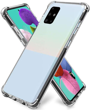 Crystal Bumper Shockproof Galaxy A51 (Not 5G) Case - Transparent Clear - MyPhoneCase.com