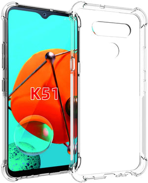 Crystal Bumper Anti Slip Protective LG K51 Case - Transparent Clear