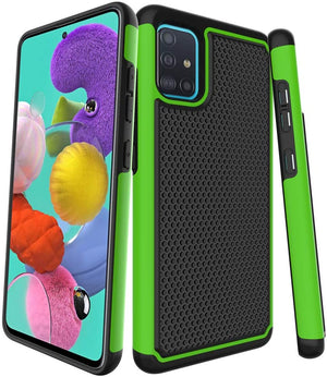 Rugged Heavy Duty Armor Galaxy A51 (Not 5G) Case - Green - MyPhoneCase.com