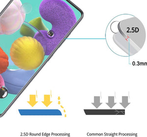 Full Coverage Tempered Glass Screen Protector Galaxy A51 [3-Pack] - MyPhoneCase.com