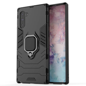 Slim Ring Stand Armor Galaxy Note 10 Case - Black - MyPhoneCase.com
