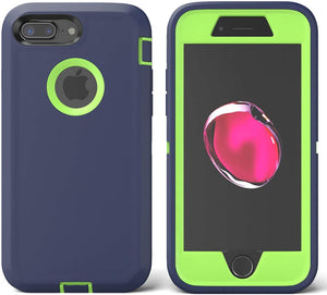 ToughBox Defender iPhone 8 Plus / 7 Plus Case Holster - Navy/Green