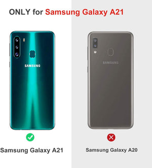 Anti-Scratch Crystal Clear Galaxy A21 (2020) Case - Transparent Clear - MyPhoneCase.com
