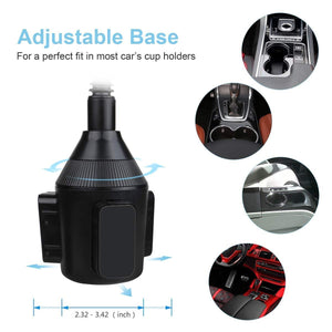 Car Cup Holder Phone Mount 360° Rotatable Cup Holder Cradle Car Mount - MyPhoneCase.com
