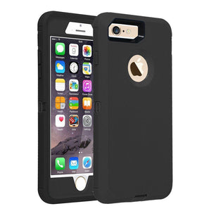 "Heavy Duty Rugged Tough Shell iPhone 8 / 7 (4.7"") Case - Black - MyPhoneCase.com"
