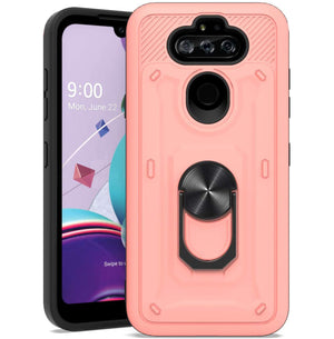 Rugged Ring Stand LG Aristo 5 / K31 / Phoenix 5 Case - Pink