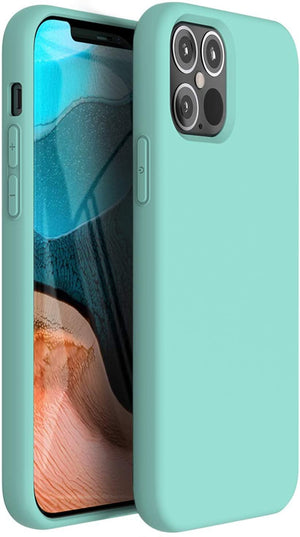 "Premium Liquid Silicone Soft Cover iPhone 12 Mini (5.4"") Case - Turquoise"