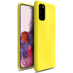 Nano Silicone Liquid Crystal Galaxy S20 Case - Boosted Yellow
