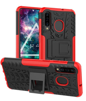 Tough Armor Kickstand Galaxy A50 (2019) Case - Red - MyPhoneCase.com