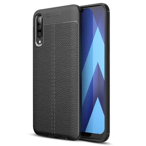 Leather Texture TPU Galaxy A50 (2019) Case - Black - MyPhoneCase.com