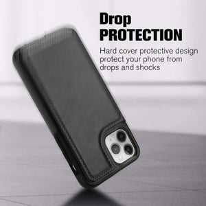 Flip Cover Slim Back Wallet iPhone 11 Pro Max Case - Black - MyPhoneCase.com