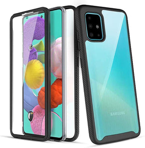 Hybrid Bumper Armor Galaxy A51 (Not 5G) Case - Clear/Black