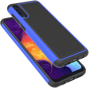 Grippy Dual Shock-proof Galaxy A50 (2019) Case - Blue - MyPhoneCase.com
