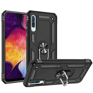 Metal Plate Ring Stand Galaxy A50 (2019) Case - Black