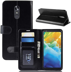Element Series Book-Style Leather Folio LG Stylo 5 Wallet Case - Black - MyPhoneCase.com