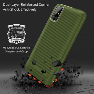 Slim Carbon Anti-Slip Shock Absorber Galaxy A51 (Not 5G) Case