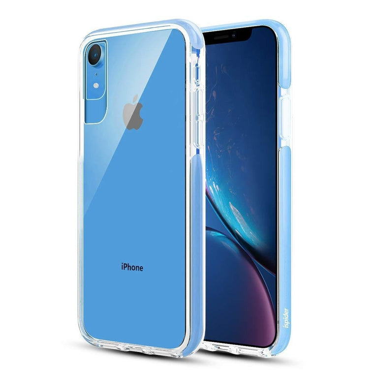 Ispider Crystal Bumper Apple iPhone XR Case - Blue