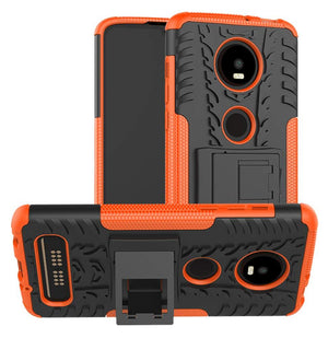 Rugged Armor Kickstand Motorola moto z4 Case - Orange