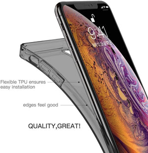 Slim Armor Crystal Bumper iPhone XS MAX Case - Transparent Smoke