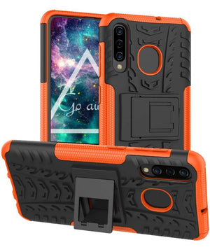 Tough Armor Kickstand Galaxy A50 (2019) Case - Orange - MyPhoneCase.com